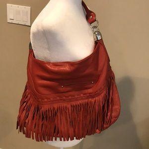 B Makowsky Andalusia Fringed Handbag